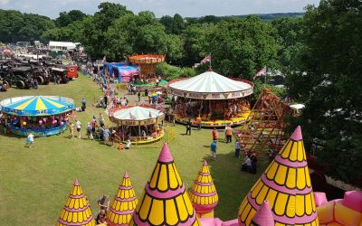 Old time fun fair with gallopers