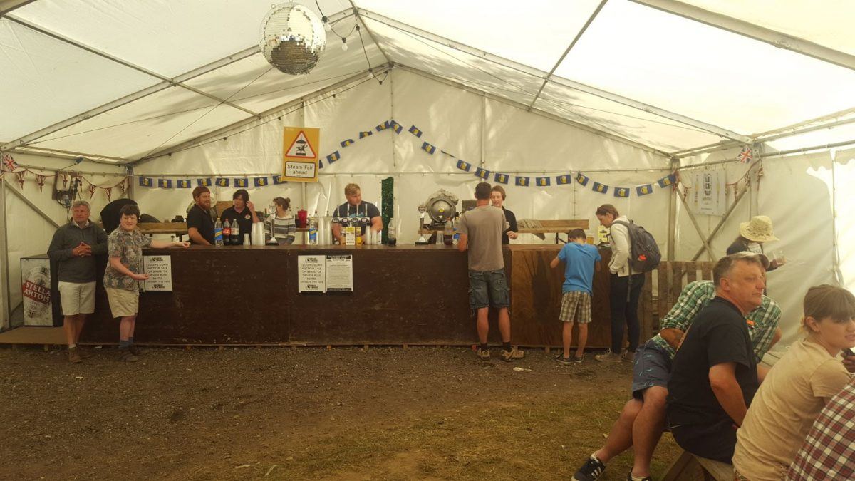 Real ale beer tent